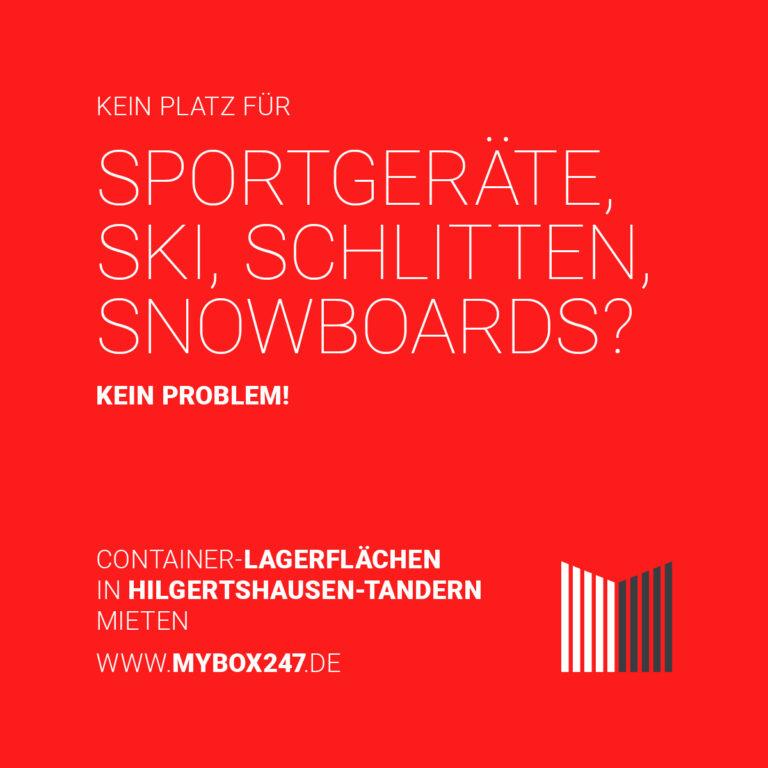 mybox247 Container Lagerfläche Platz Sport Ski Schlitten Snowboard